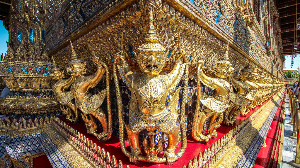 Some details in the Grand Palace, Bangkok, Thailand..