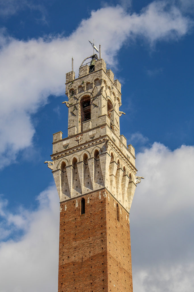 Top of Torre del Mangia in Sienna, Italy.