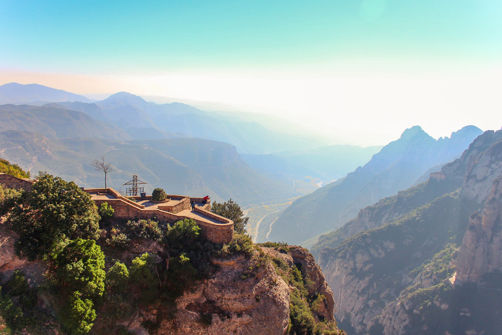 The view from atop Montserrat, near Barcelona, Spain.
