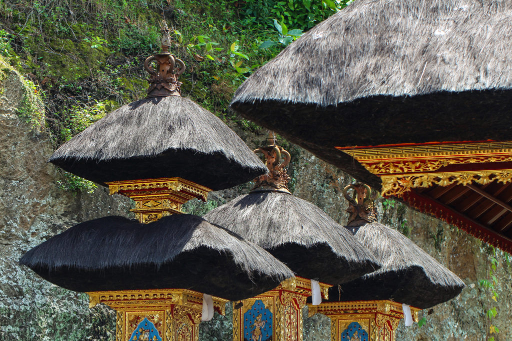 One of the quintessential symbols of Bali are these unique, layered temple structures found in almost every Balinese home and place of worship.