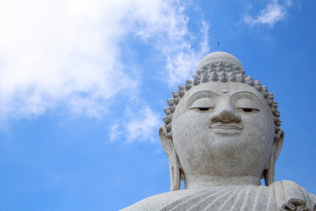 The Big Buddha - a 45 meter tall, marble Buddha, towering atop a mountain.